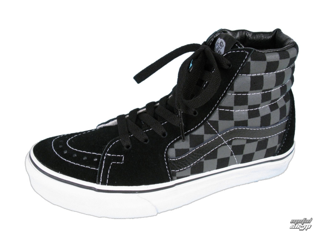 boty VANS - Sk8-Hi - Black/Pewter Checkerboard