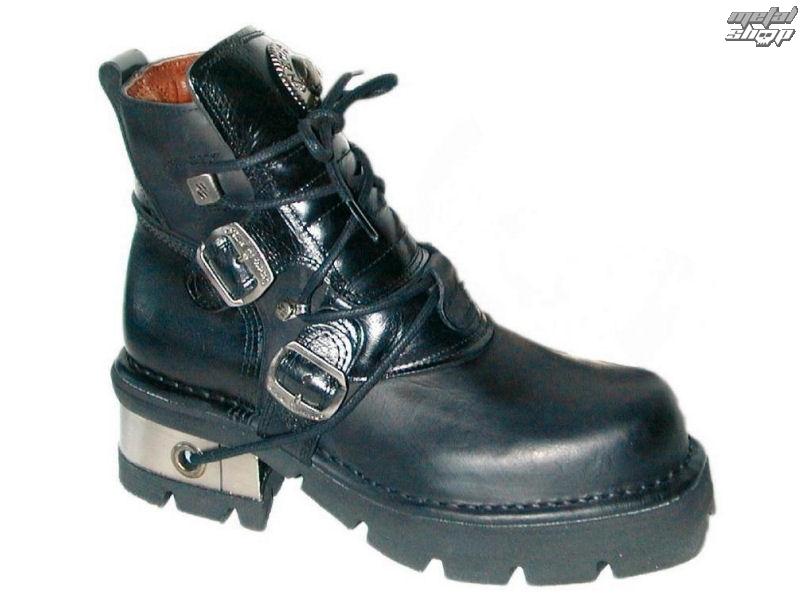 topánky kožené NEW ROCK Classic Shoes (988-S1) Black Čierna 46