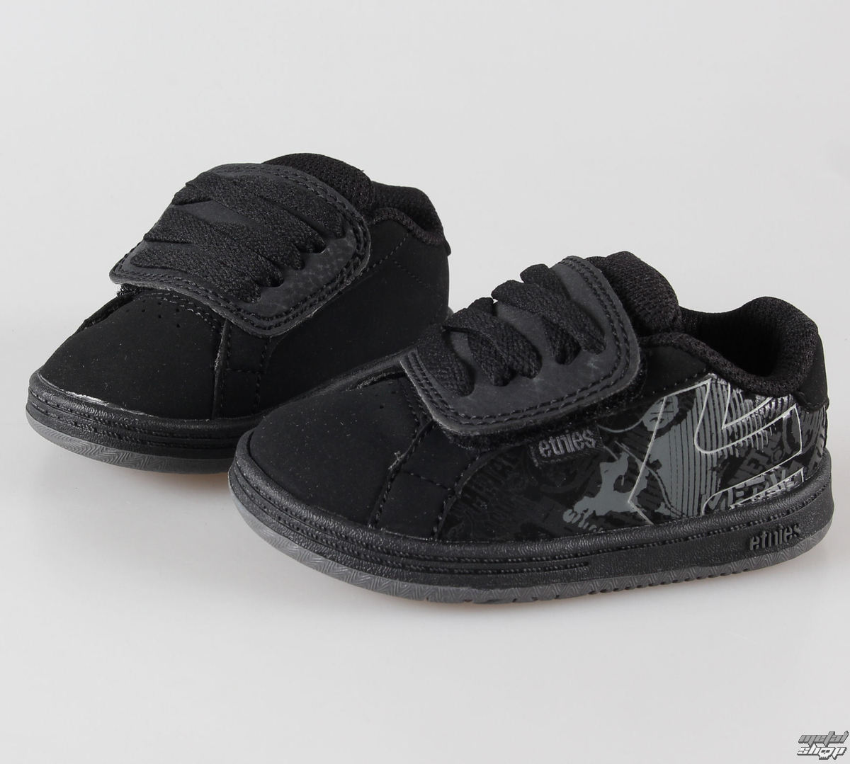 topánky detské ETNIES - Toddler Metal Mulisha Fader - Black / Dark Grey/Grey