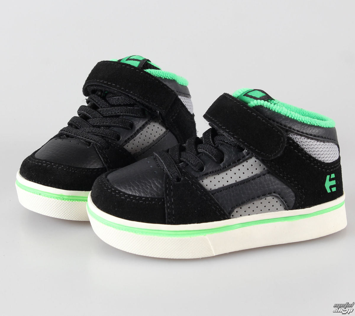 topánky detské ETNIES - Toddler RVM Strap - Black / Green