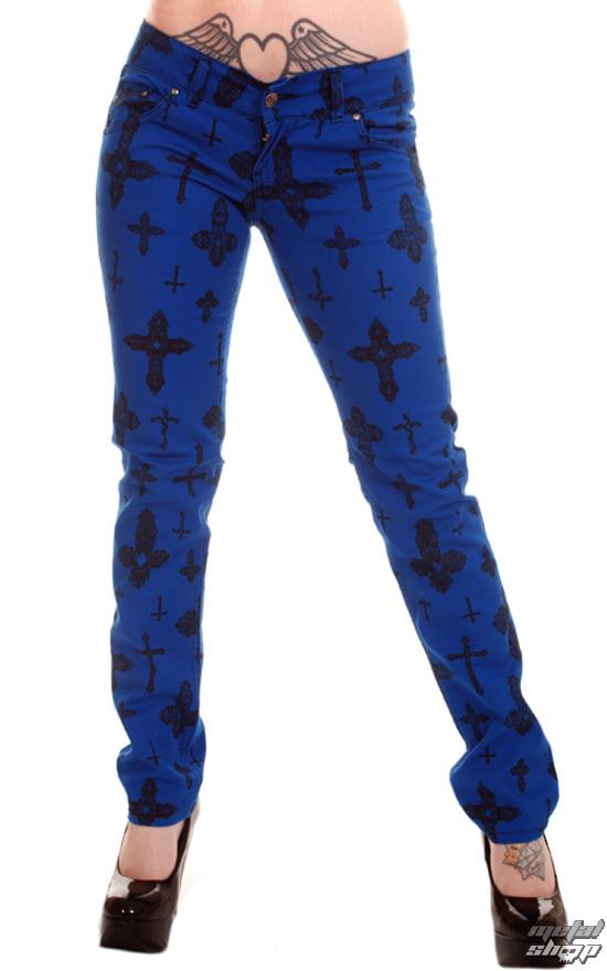 nohavice dámske 3RDAND56th - Cross Skinny Jeans - Royal - JM1163