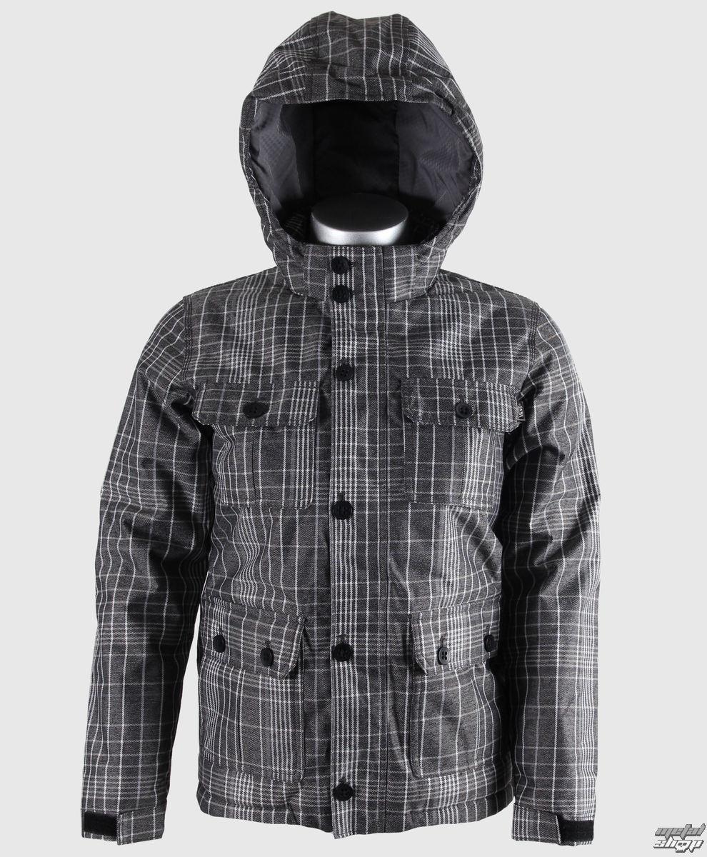 bunda detská zimný VANS - Mixter II Boys - Black/New Charcoal Plaid - VQO8960