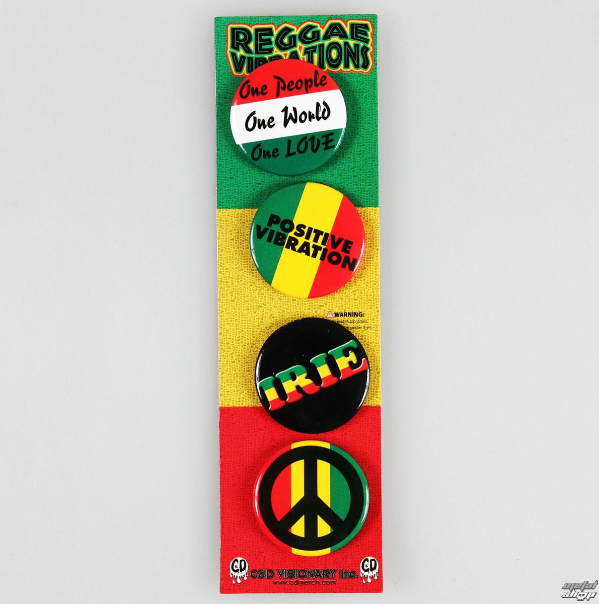 odznaky DSX Reggae&Rasta - Assorted - B-5576