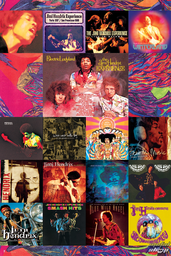 plagát Jimi Hendrix - Album Covers - LP1615