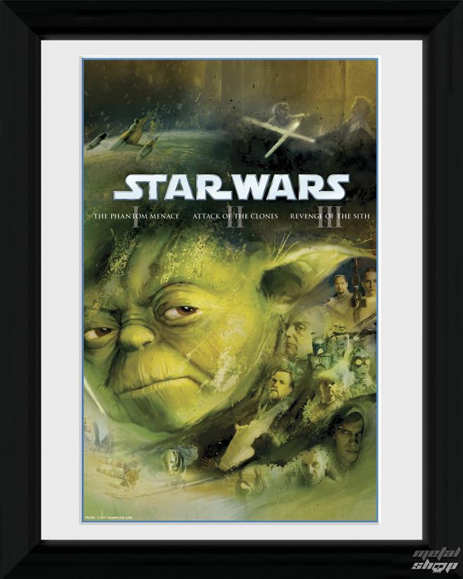 plagát + rám Star Wars - Blu Ray Prequel - PFC280