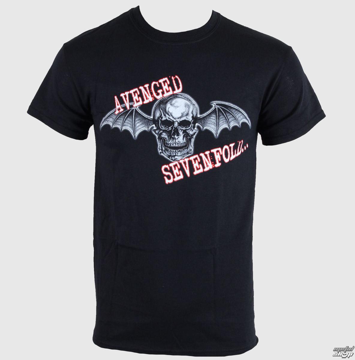 tričko pánske Avenged Sevenfold - Death Bat Glow Skull - LIVE NATION - 10726