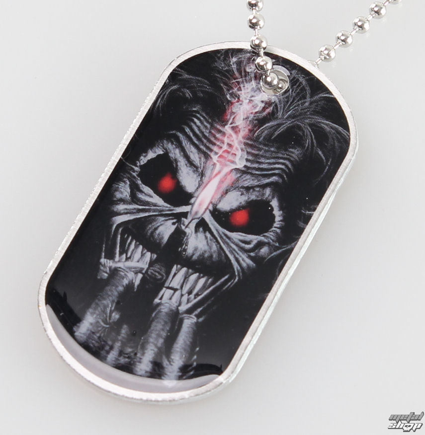 obojok (psie známka) Iron Maiden - Eddie Candle Finger - RAZAMATAZ - DT057