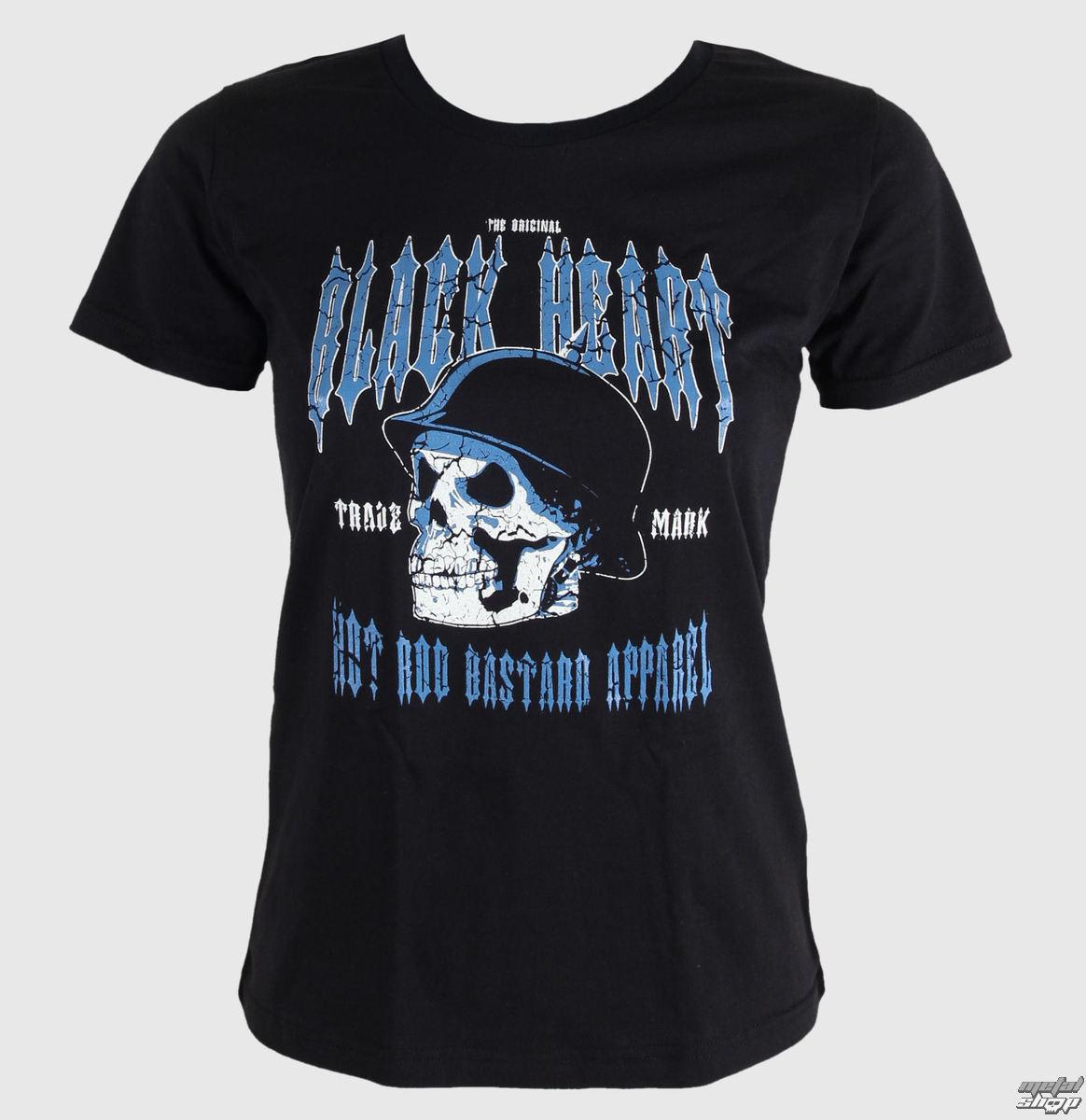 tričko dámske BLACK HEART - Vintage Skull - Black