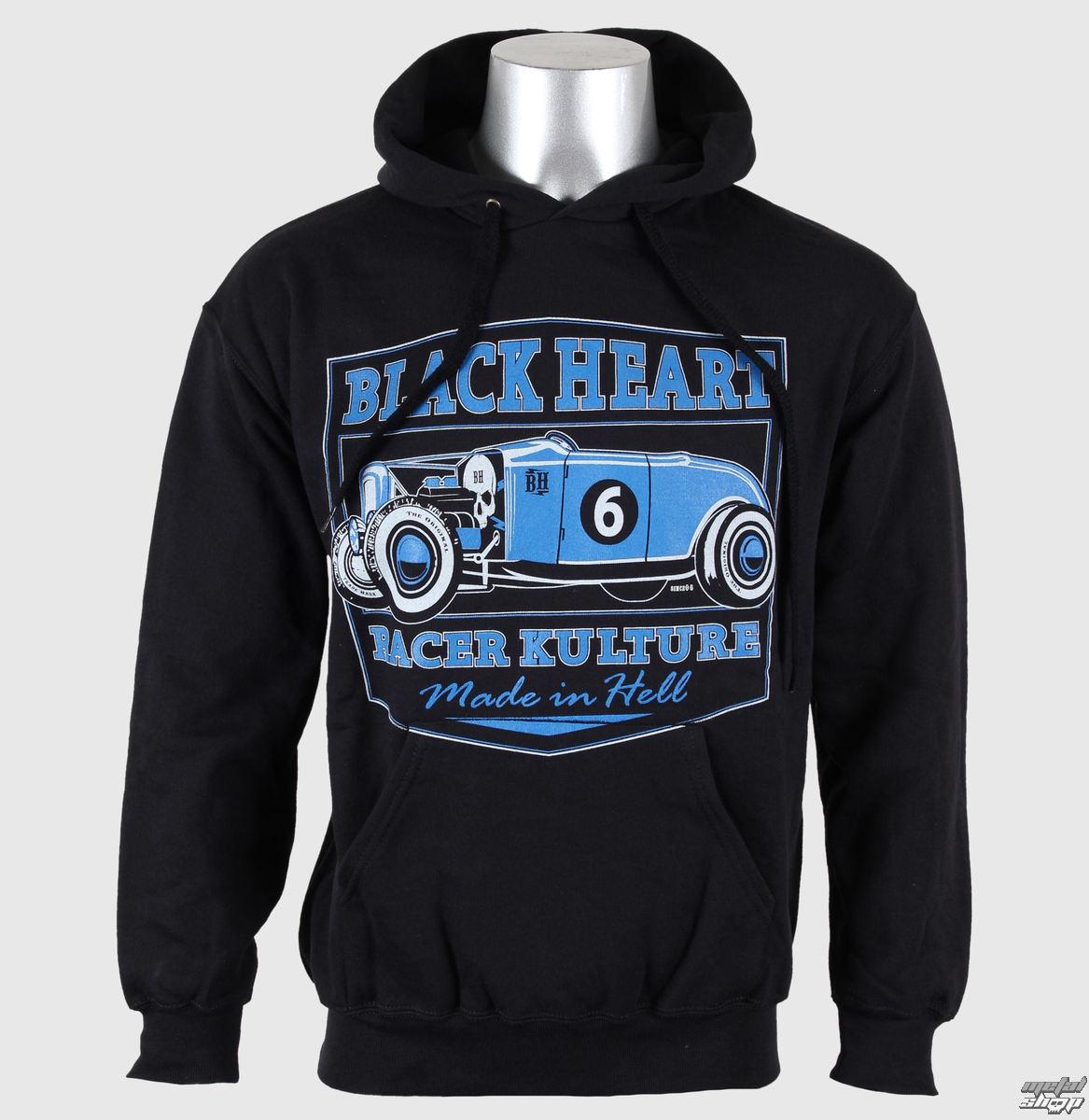 mikina pánska s kapucňou BLACK HEART - Roadster - Black