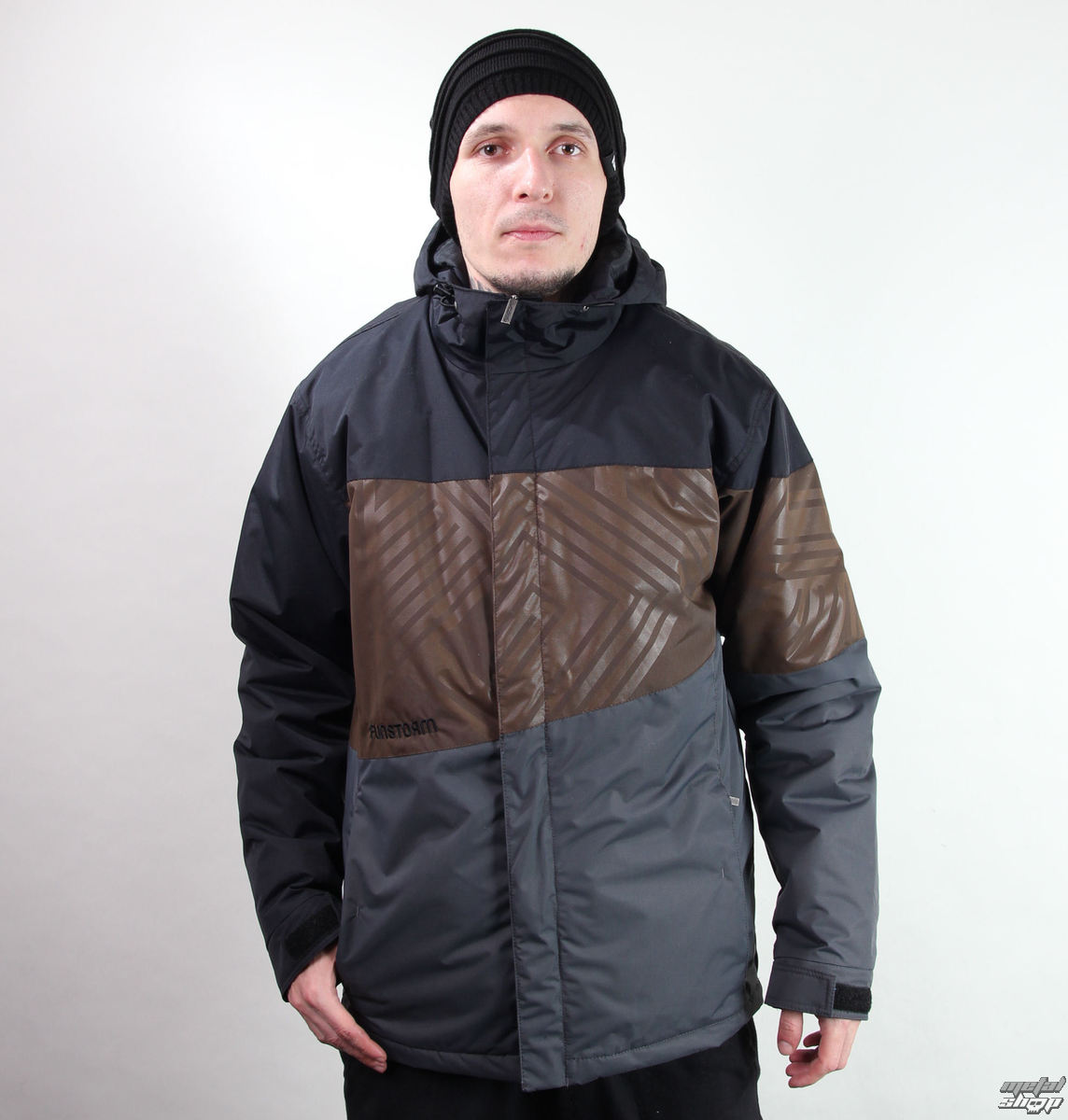 bunda pánska zimný -snb- FUNSTORM - Darwen - 20 D GREY