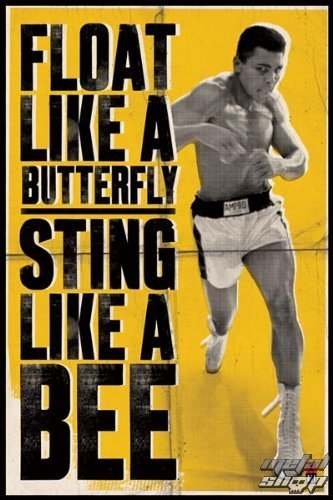 plagát Muhammad Ali - Float Like A Butterfly - PYRAMID POSTERS - PP31685