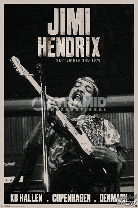 plagát Jimi Hendrix - Copenhagen - PYRAMID POSTERS - PP33080