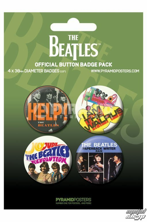 odznaky The Beatles - Green - PYRAMID POSTERS - BP80284