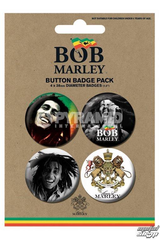 odznaky Bob Marley - Photo - PYRAMID POSTERS - BP80365