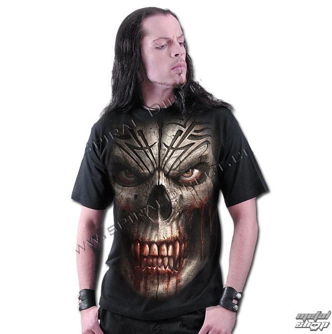 tričko pánske SPIRAL - Skull Shock - WM122600