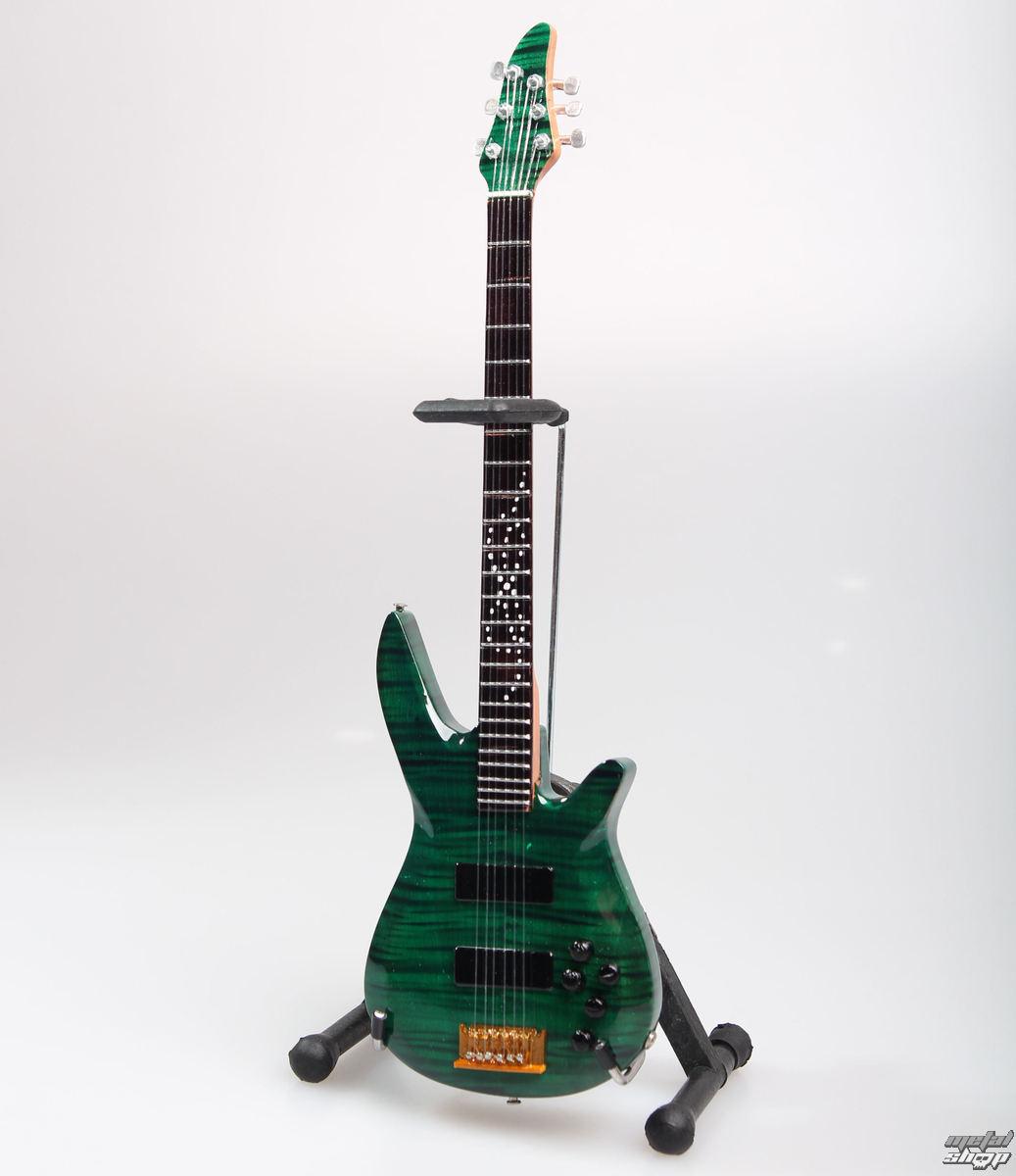 gitara Dream Theater - John Myung - Turquoise - MINI GUITAR USA - JMY Green