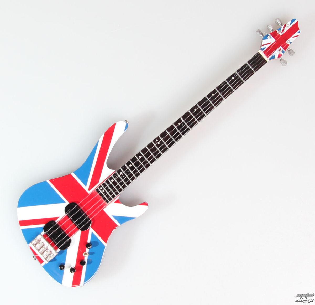 gitara Def Leppard - Rick Savage - Union Jack - MINI GUITAR USA - DLRS