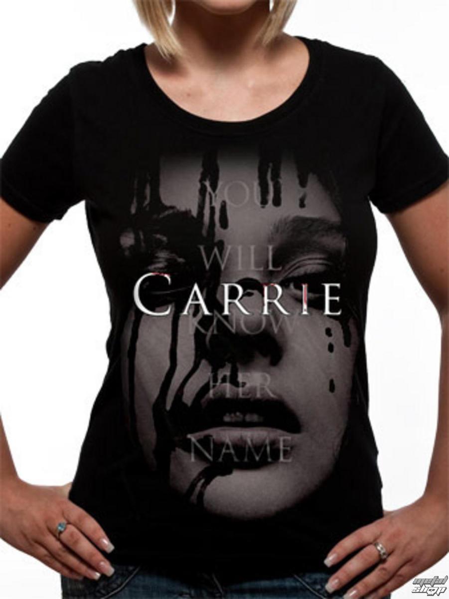 tričko dámske Carrie - Face - Black - LIVE NATION - PE10872SKB