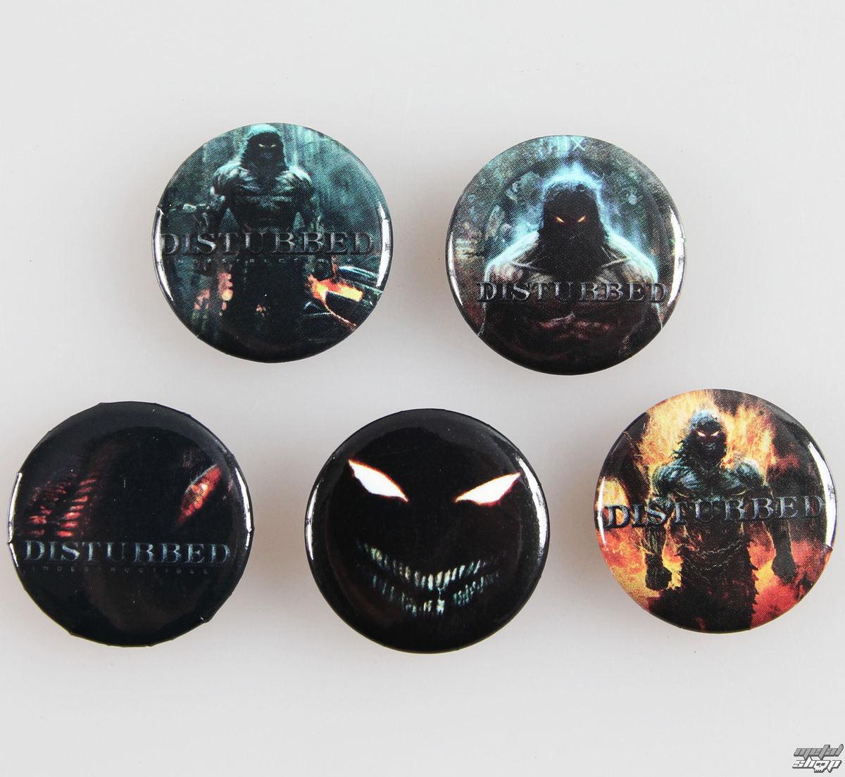odznaky Disturbed - Indestruct 5 Btn - BRAVADO - 2044100B0