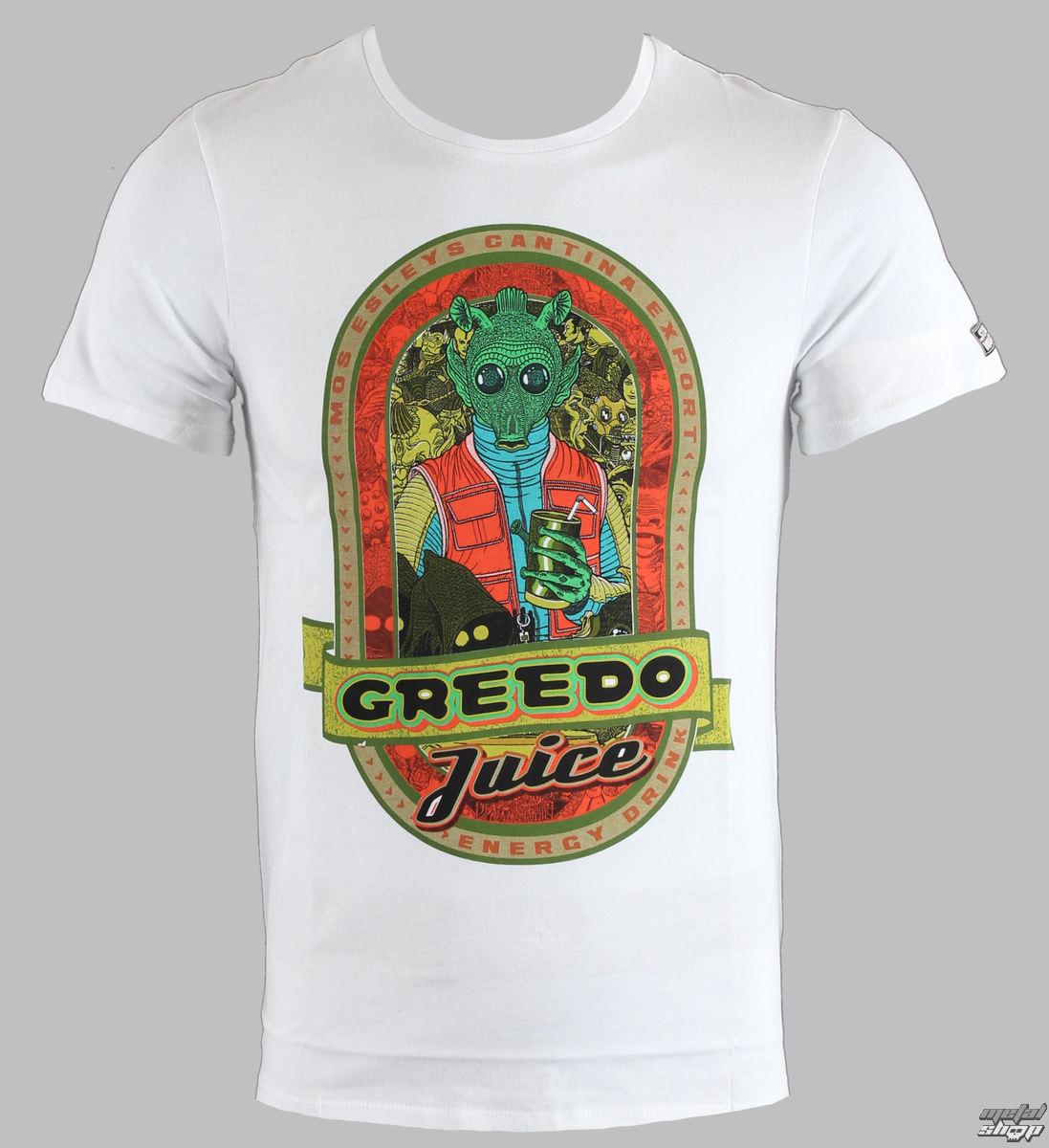 tričko pánske STAR WARS - Greedo Juice - Blanc - LEGEND - HSTTS 1309