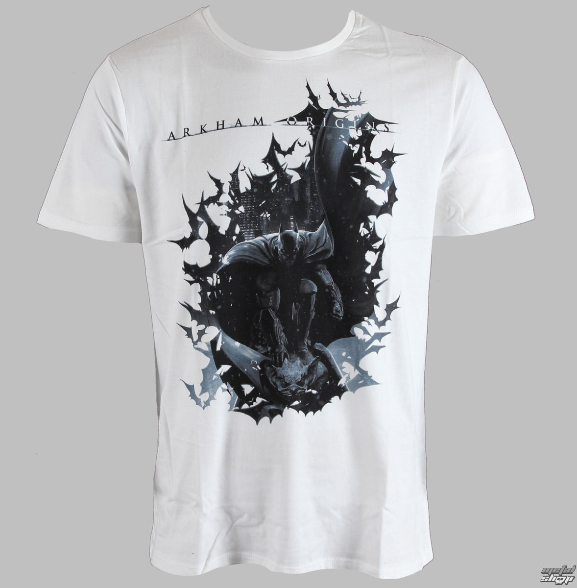 tričko pánske Arkham - Dark Bats - Blanc - LEGEND - HARKOTS 1302