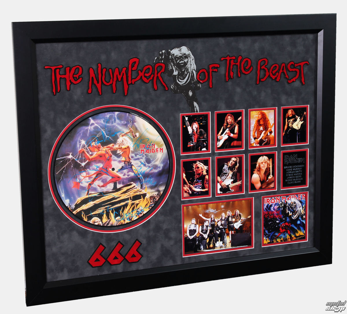 LP s podpisom IRON MAIDEN - Number Of The Beast - ANTIQUITIESCA