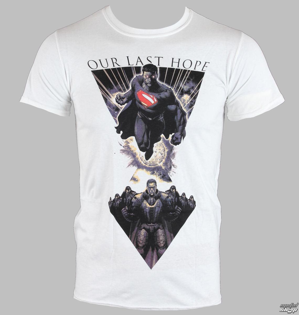 tričko pánske Man Of Steel - Last Hope - White - LIVE NATION - 10770