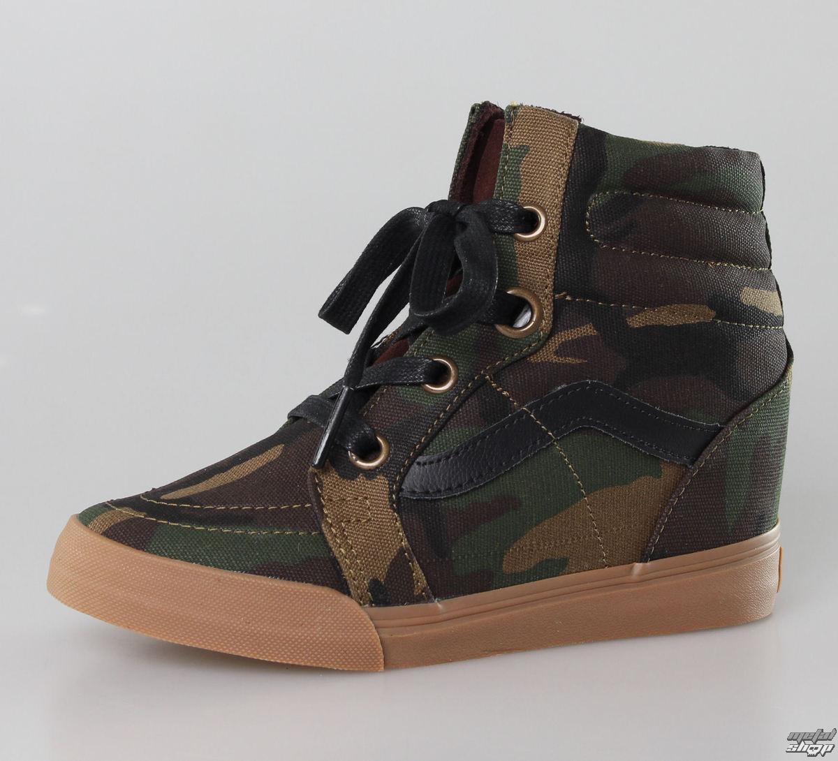 topánky dámske VANS - SK8-HI Wedge (Camo) - Military - VUDHAT1