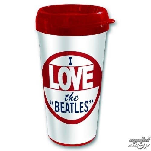 hrnček termo The Beatles - I love The Beatles - ROCK OFF - BEATTRAVMUG07