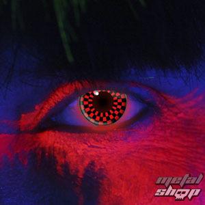 kontaktné šošovka RED AND BLACK CHECKERS UV - EDIT - 83031