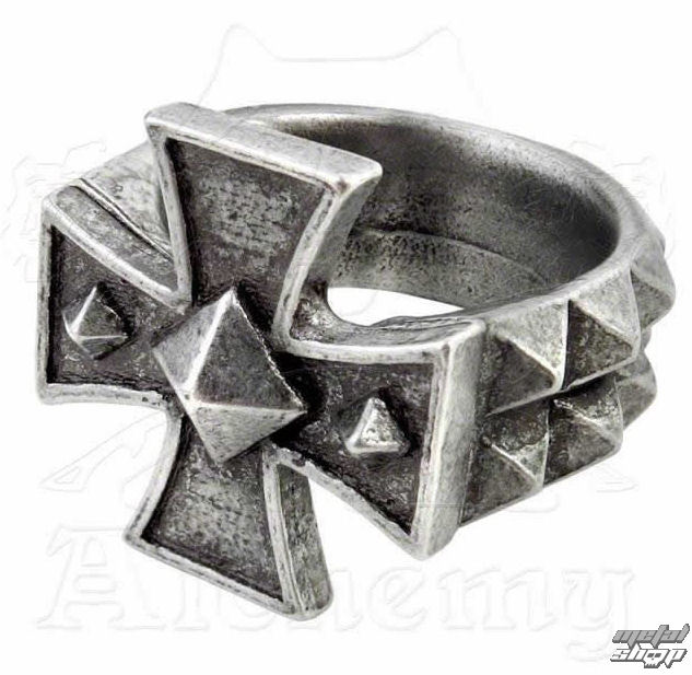 prsteň Cross Of Iron - ALCHEMY GOTHIC - R196