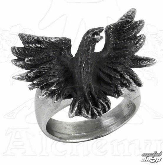 prsteň Flocking Raven - ALCHEMY GOTHIC - R197