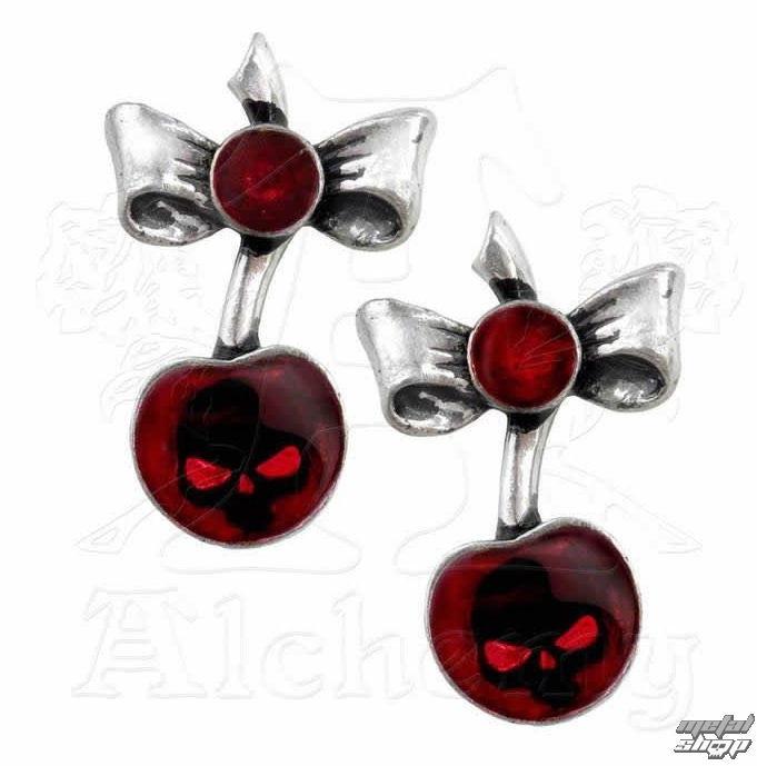 náušnice Black Cherry - ALCHEMY GOTHIC - ULFE20