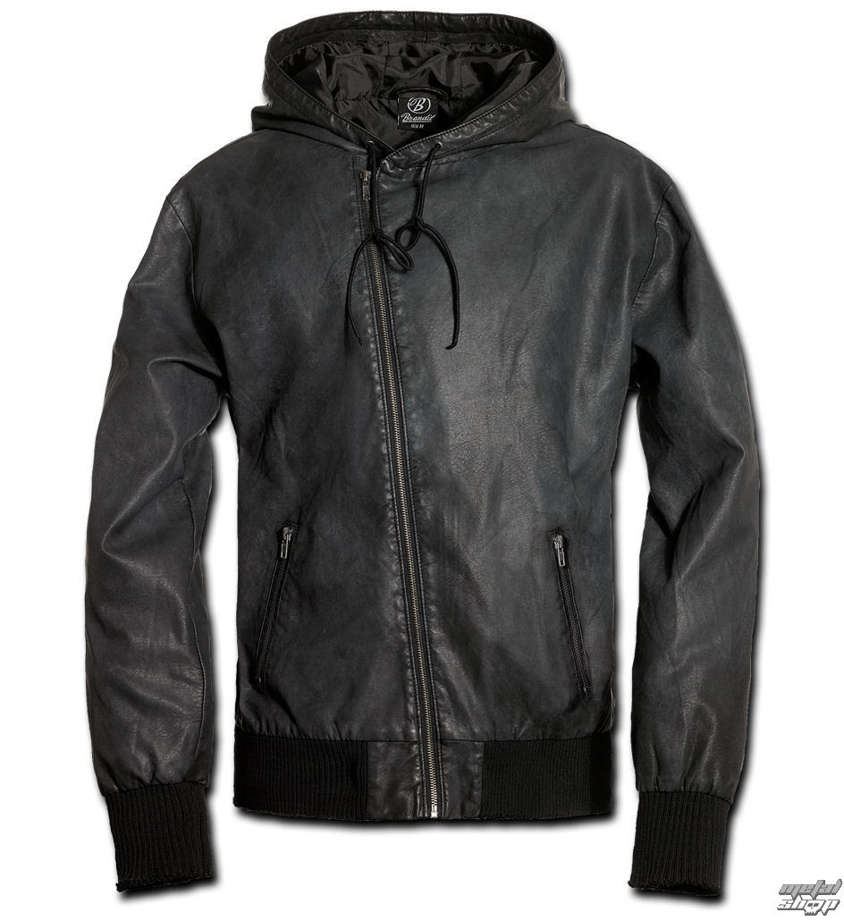 bunda pánska jarno-jesenná BRANDIT - Dean PU - Black - 3138/2