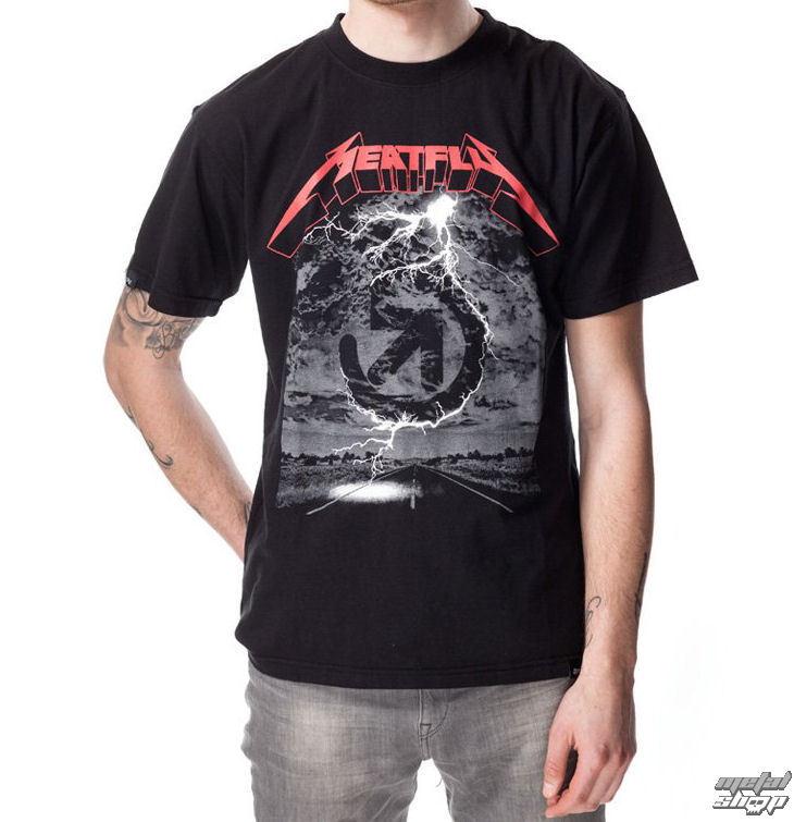 tričko pánske MEATFLY - METALICA A - Black