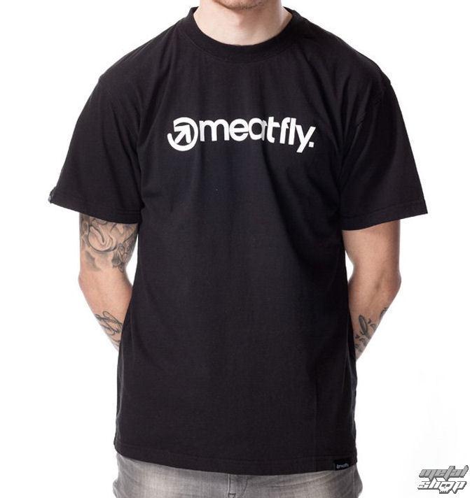 tričko pánske MEATFLY - LOGO D - Black