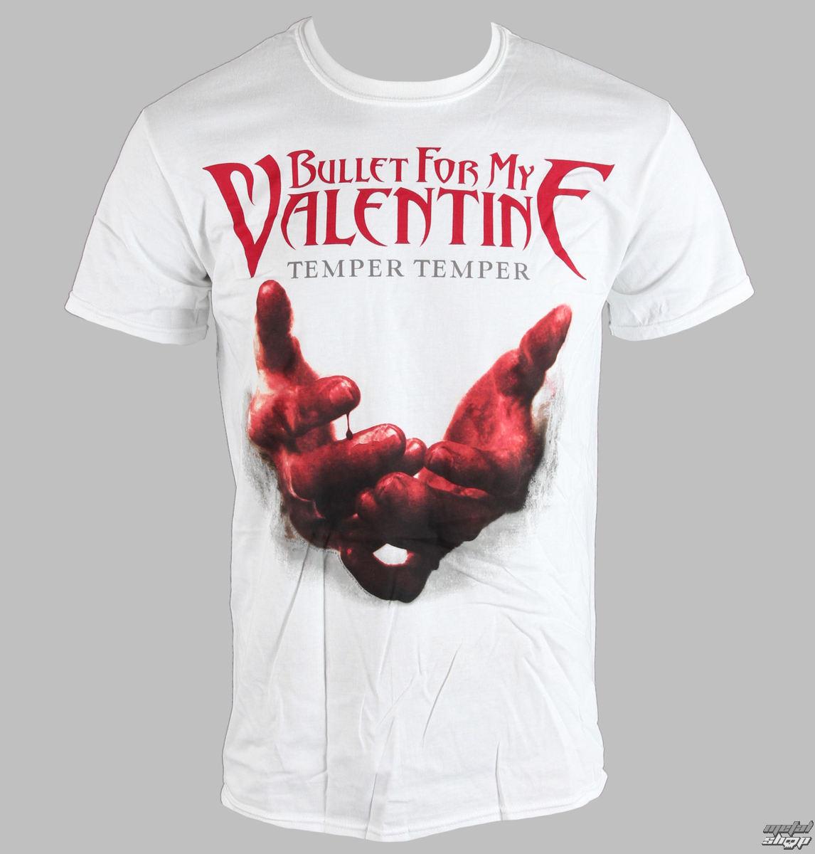 tričko pánske Bullet For My Valentine - Temper Temper Blood Hands - BRAVADO EU - BFMVTS07MW