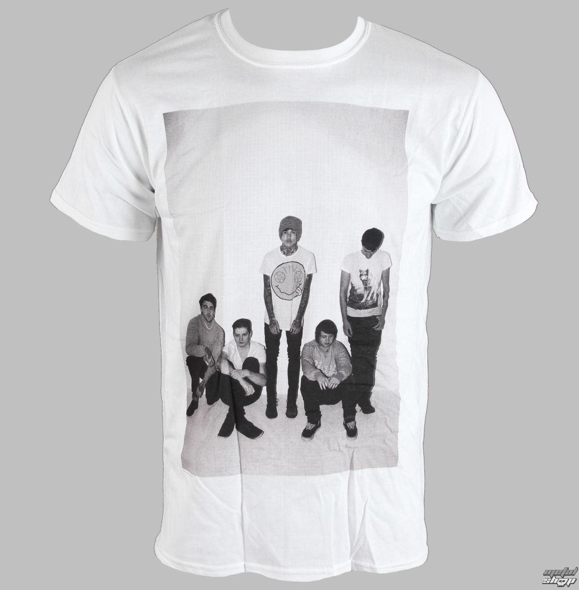tričko pánske Bring Me The Horizon - Group Shot - White - BRAVADO EU - BMTHTS06MW