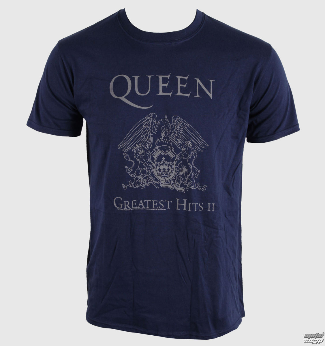 tričko pánske Queen - Greatest Hits II - Navy - BRAVADO EU - QUTS10MBL