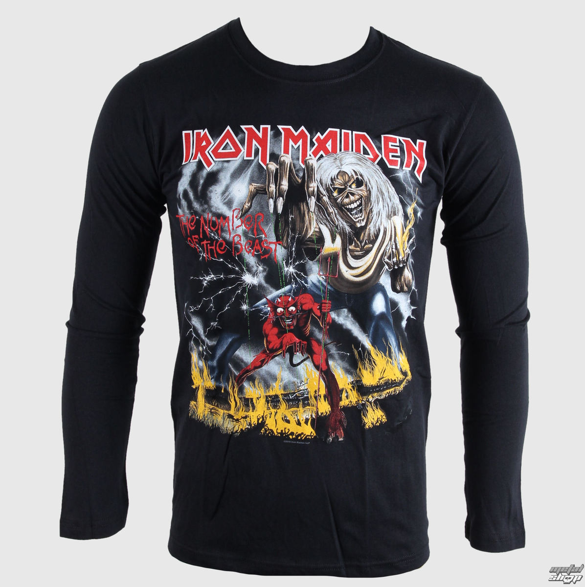 tričko pánske s dlhým rukávom Iron Maiden - NOTB - BRAVADO EU - IMLST04MB