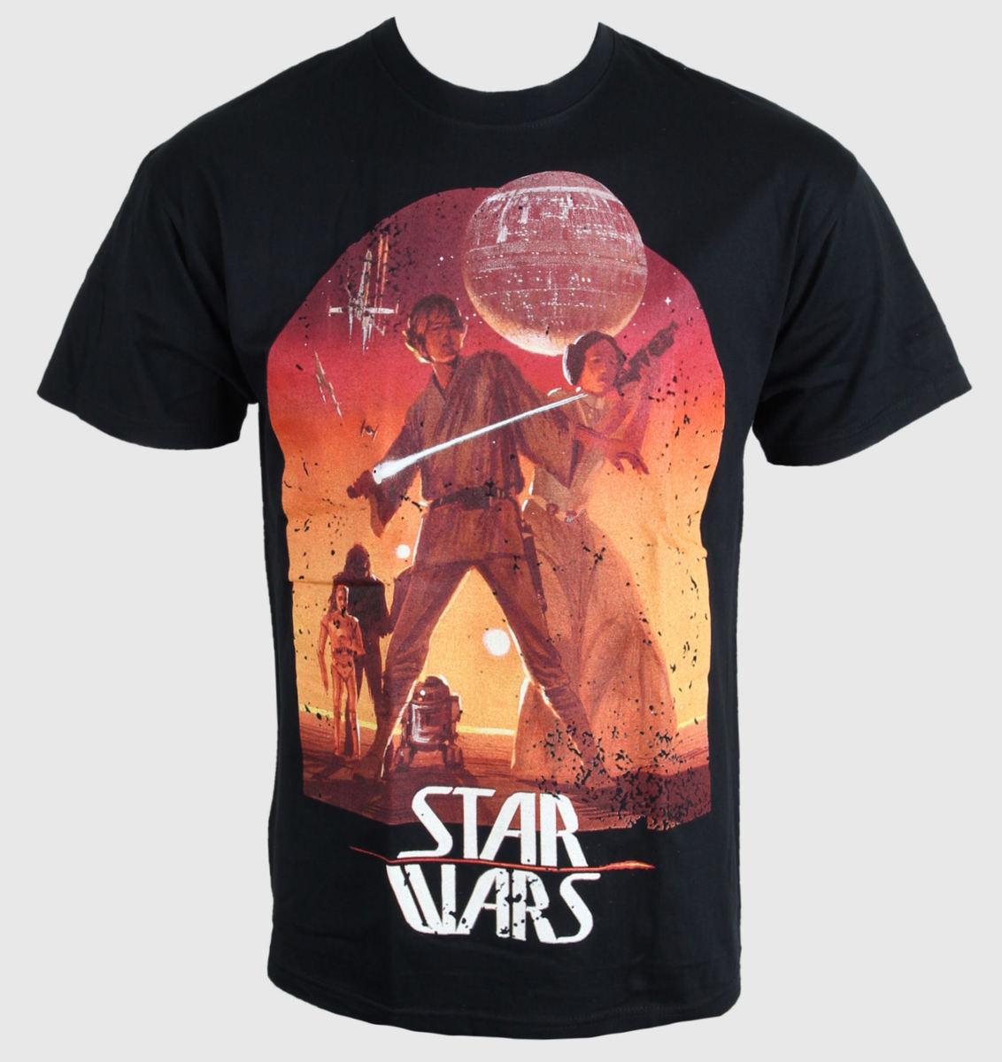 tričko pánske Star Wars - Sunset Poster - Black - PLASTIC HEAD - PH8123