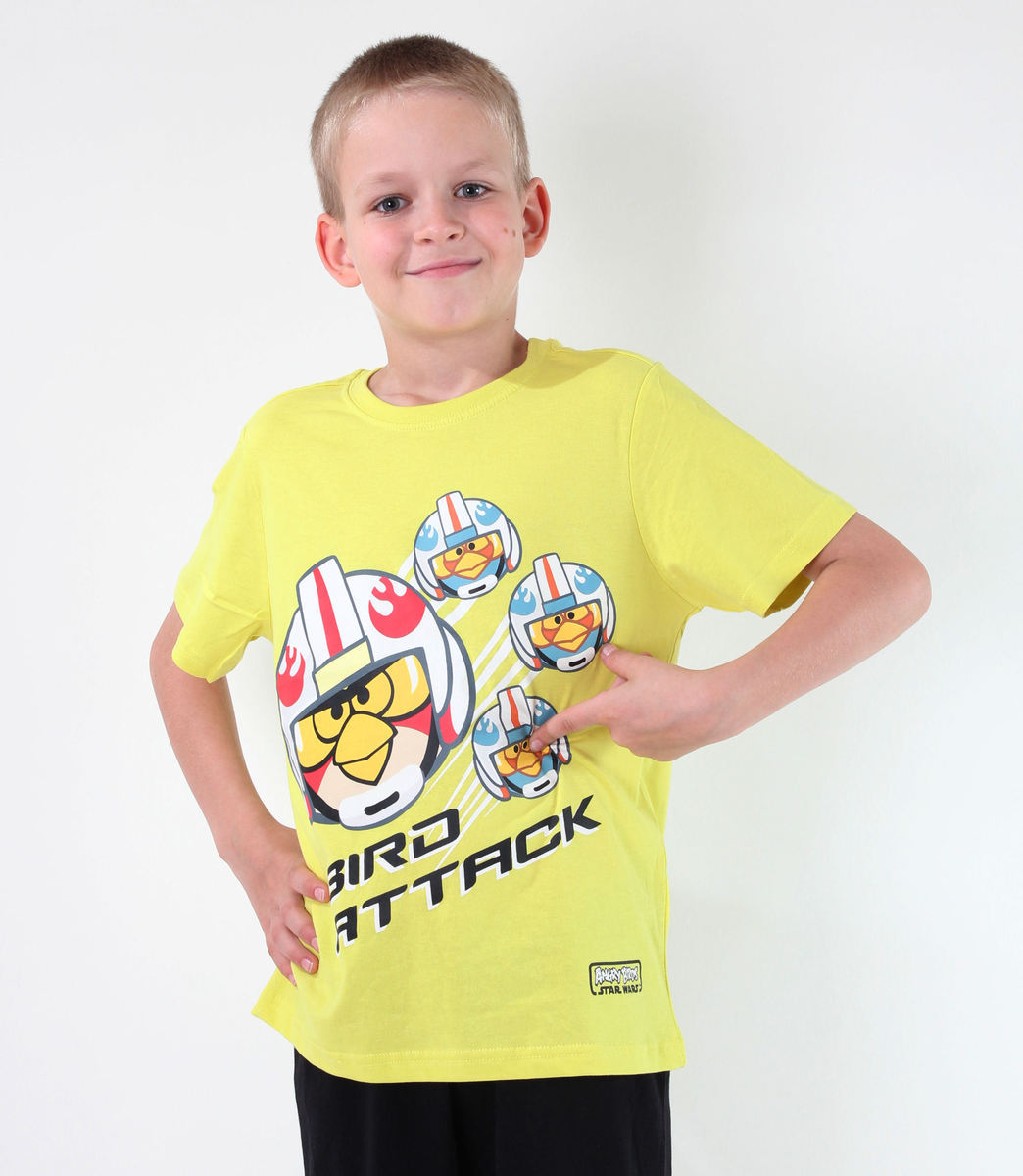 tričko chlapčenské TV MANIA - Angry Birds - Lime - SWAB 326