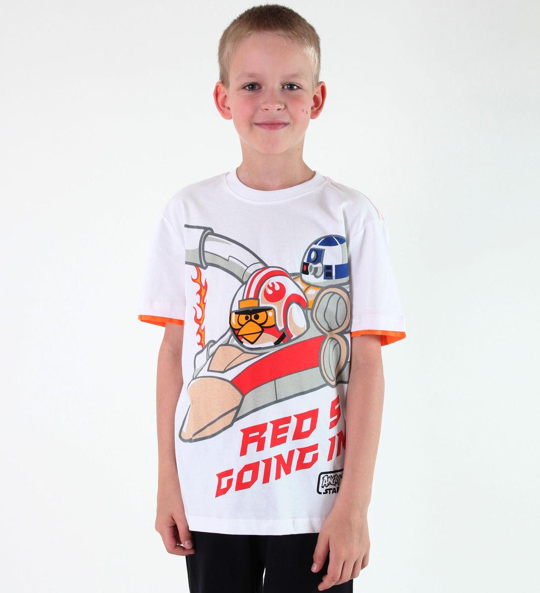tričko chlapčenské TV MANIA - Angry Birds - White - SWAB 327
