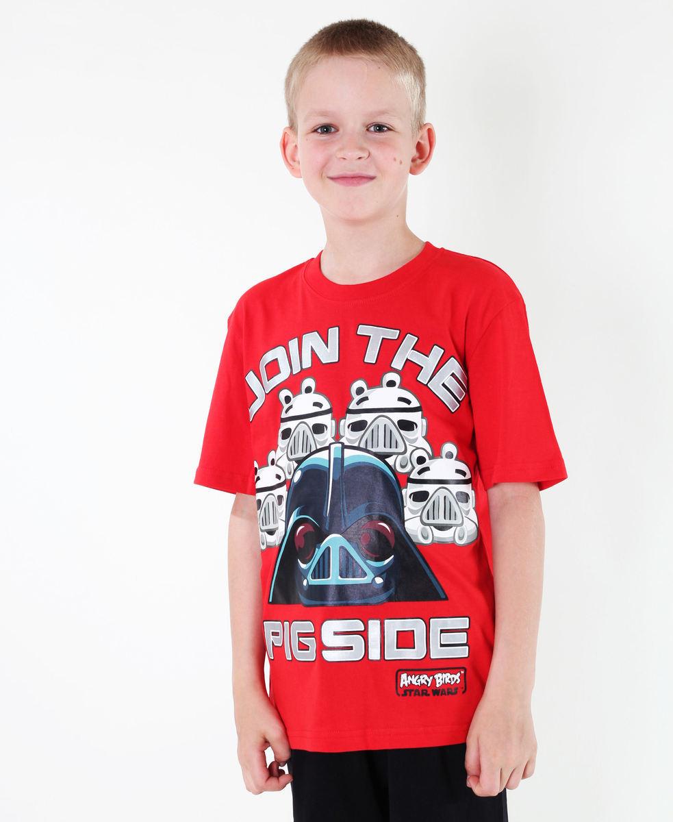 tričko chlapčenské TV MANIA - Star Wars - Red - SWAB 322