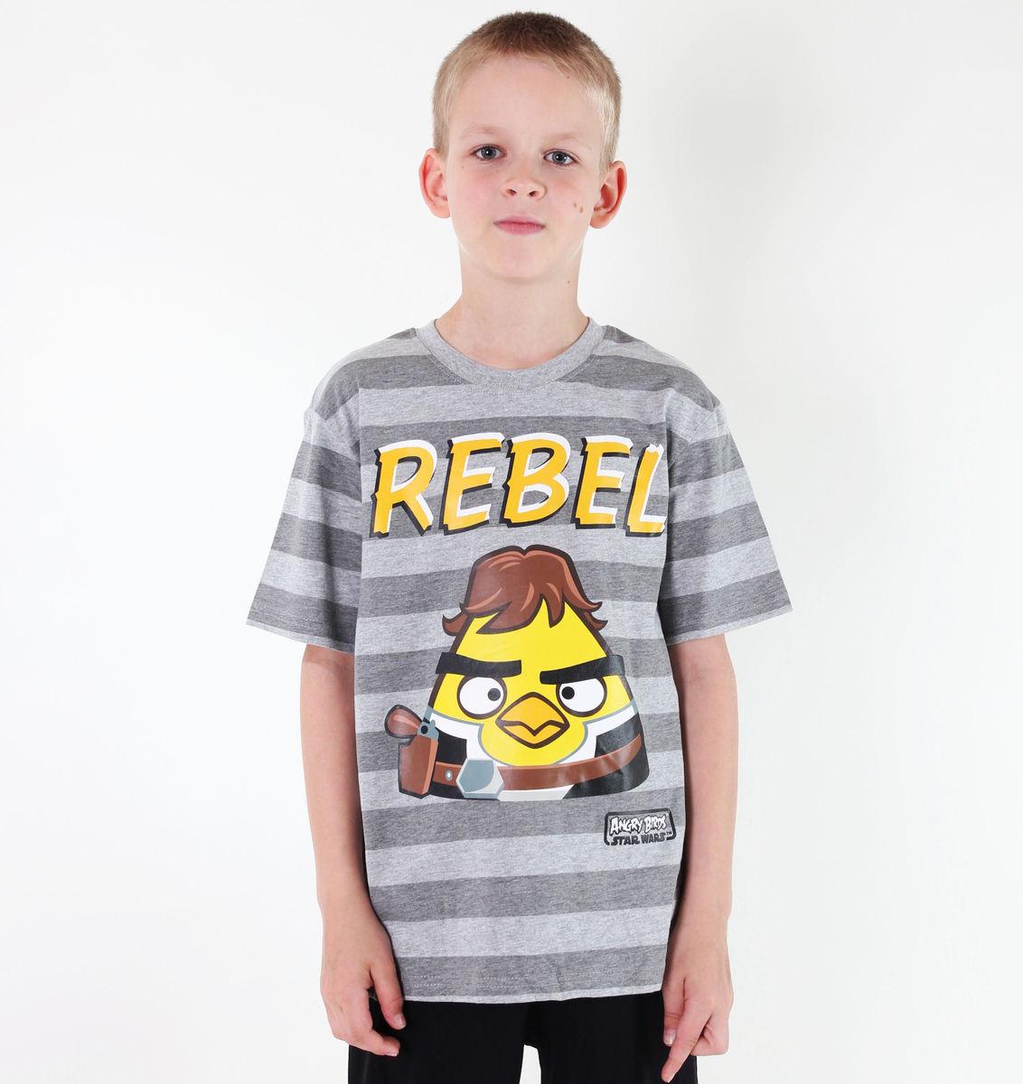 tričko chlapčenské TV MANIA - Angry Birds - Grey - SWAB 324