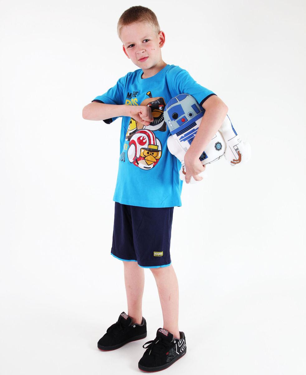 set chlapčenský ( tričko,kraťasy) TV MANIA - Angry Birds - Blue - SWAB 339