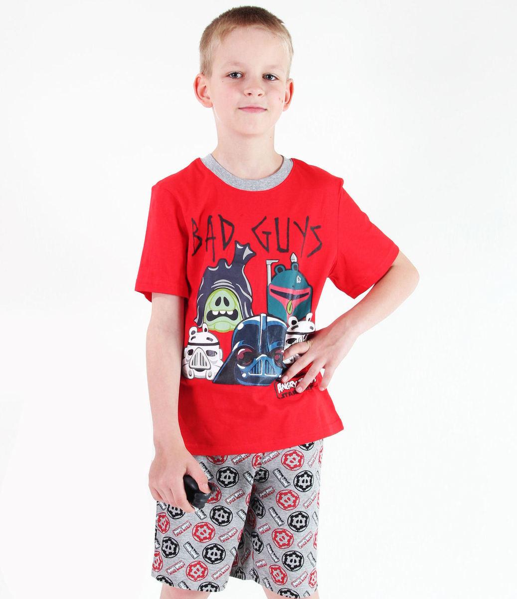 pyžamo chlapčenské TV MANIA - Angry Birds - Red - SWAB 328