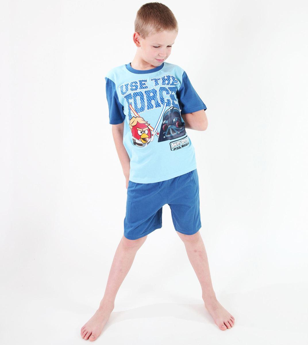 pyžamo chlapčenské TV MANIA - Angry Birds - Turquise - SWAB 329