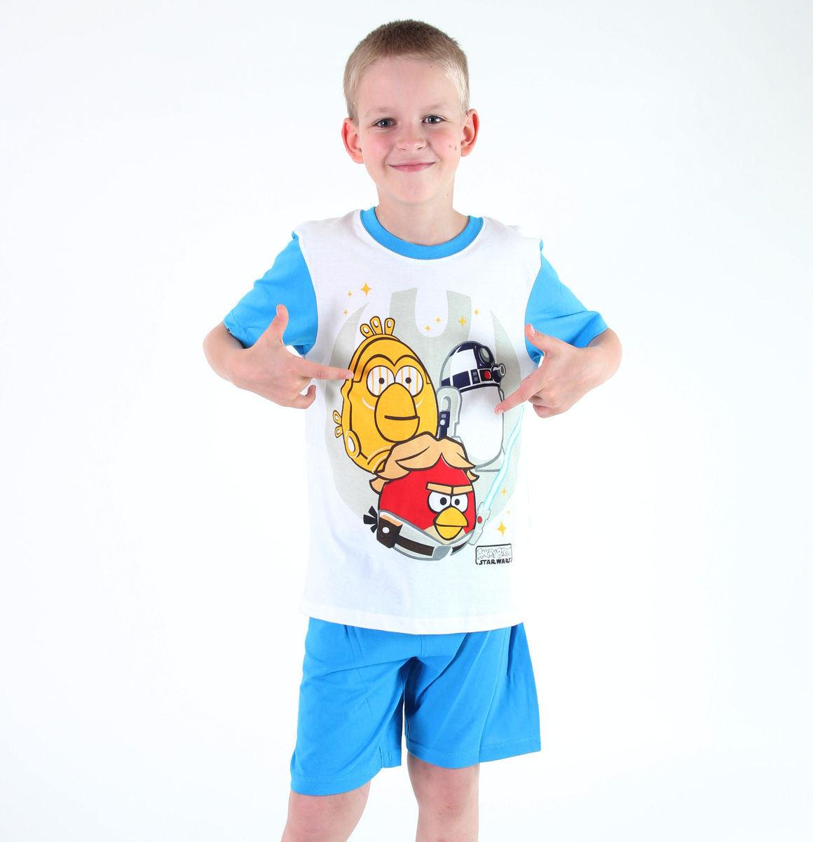 pyžamo chlapčenské TV MANIA - Angry Birds - White - SWAB 330