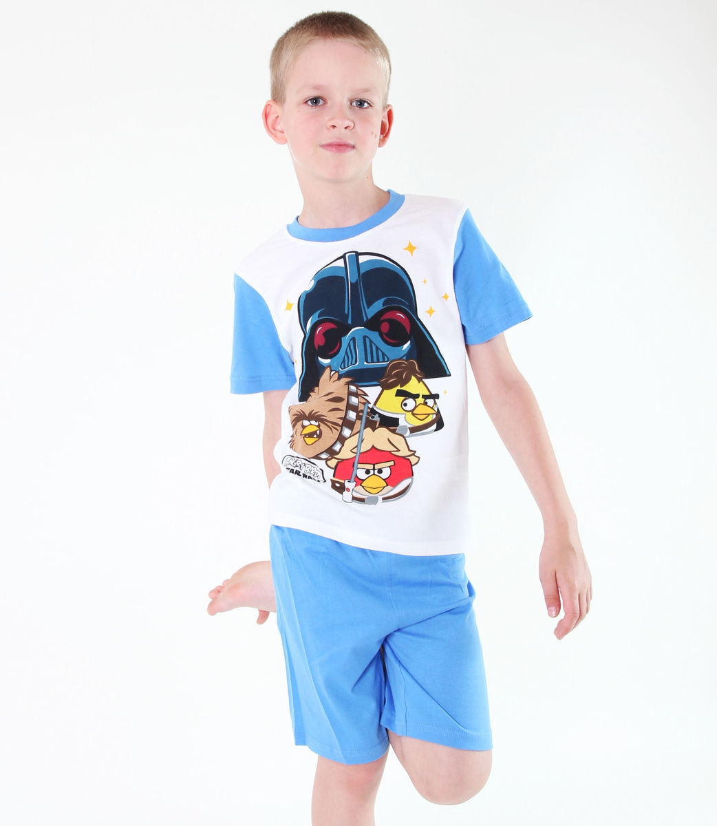 pyžamo chlapčenské TV MANIA - Angry Birds/Star Wars - White - SWAB 341